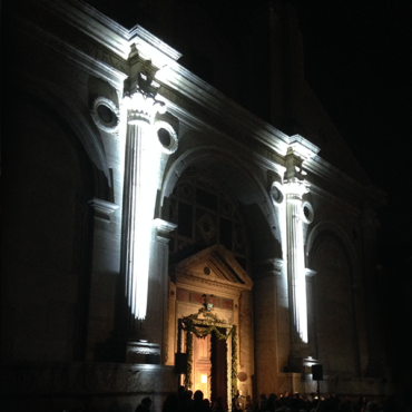 Illuminazioni architetturali, service luci